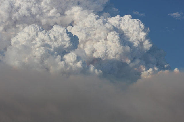 Closer View of Smoke Clouds