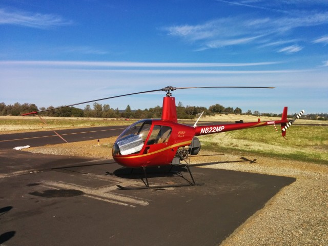 The Robinson R22 Beta II at Auburn Airport